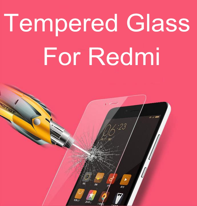 0.3mm 9H Clear Tempered Glass Protector For Xiaomi Redmi 4 4A 4X Prime Note 4 India version 5 Screen Protectors 100PCS DHL Ship