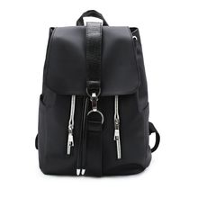 High Quality Womens Nylon Leather Patchwork Bag Fashion Waterproof Travel Black School Backpacks Teenager For Girl