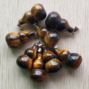 Image 2 - ขายส่ง 8 ชิ้น/ล็อตแฟชั่นคุณภาพดี natural tigers eye stone gourd shape จี้สำหรับเครื่องประดับทำจัดส่งฟรี