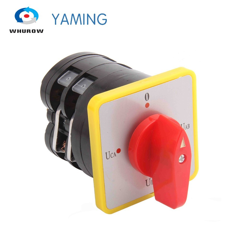LW5-16YH2/2 Voltage Transfer switch 16A 2 levels 4 position control motor circuit changeover rotary Cam switch Red HandleLW5-16YH2/2 Voltage Transfer switch 16A 2 levels 4 position control motor circuit changeover rotary Cam switch Red Handle