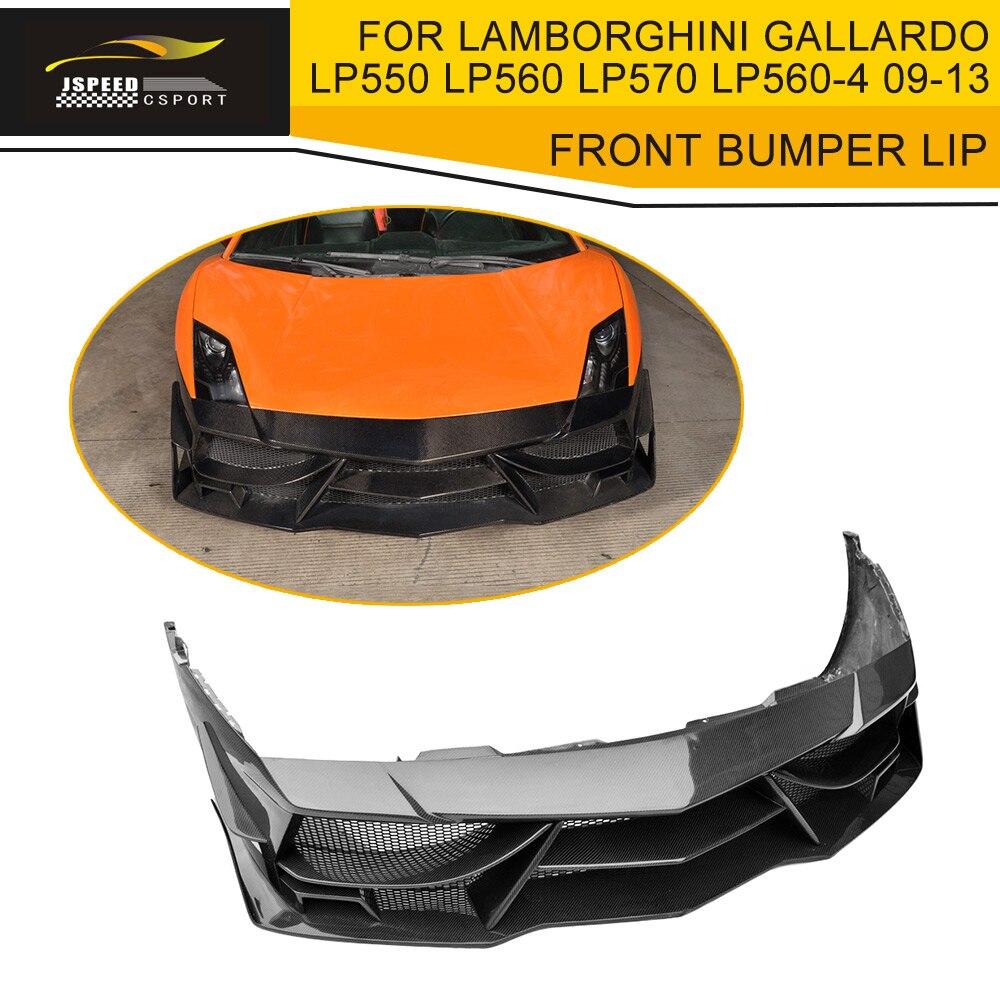 Carbon Fiber Front Bumper Lip Spoiler Case For Lamborghini Gallardo Coupe Convertible Lp550 Lp560 Lp570 Lp560-4 Lp570-4 09-13 Bumpers