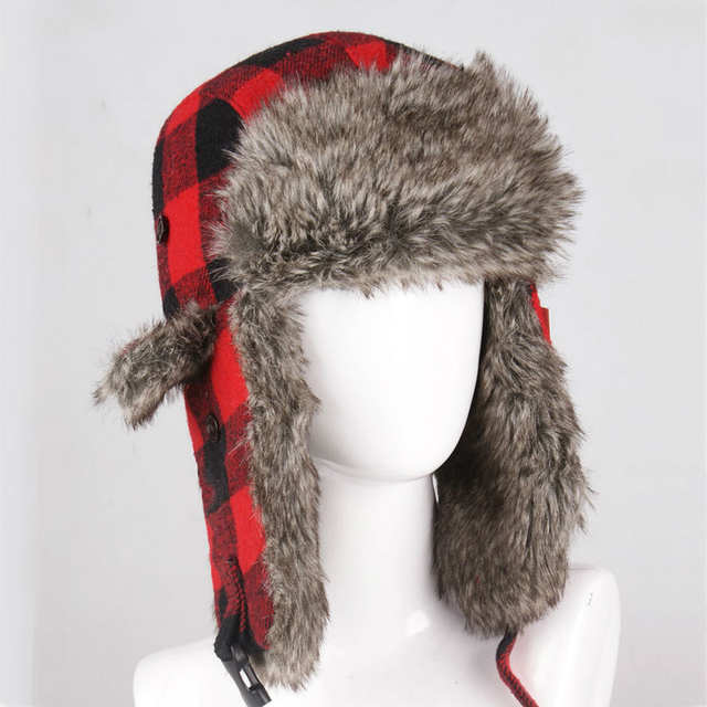 216d385e116 placeholder Wholesale Hot Sale Bomber Hats Ushanka Russian Hat Fur Winter  Hats sports snow outdoor aviator ear