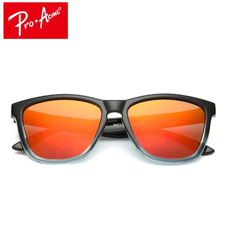 Pro Acme Polarize Güneş Gözlüğü Erkekler Ünlü Marka Ayna Lens Kare Gözlük Kadınlar Güneş Gözlükleri Kaplama Sürüş Shades De Sol CC0806