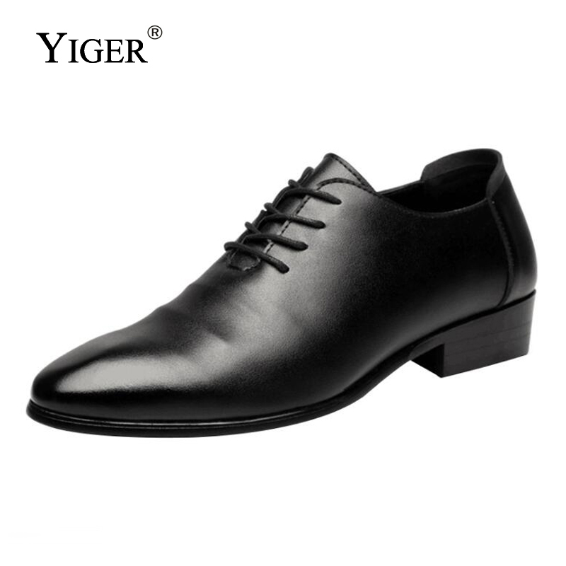 YIGER New Business Mens Genuine Leather Shoes Mens Fashion Breathable Dress Mens Shoes With Lace-up Wedding Shoes  0041YIGER New Business Mens Genuine Leather Shoes Mens Fashion Breathable Dress Mens Shoes With Lace-up Wedding Shoes  0041
