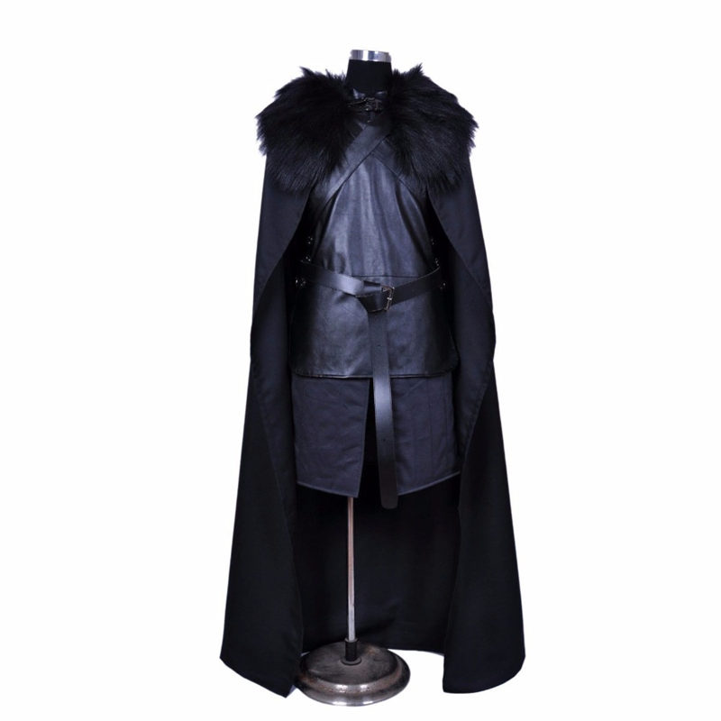 The movie game Throne series The power of the game 5 Cosplay costumes Jon Snow Role play Knight Cosplay costume Full Halloween