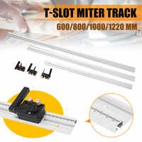 600/800/1000/1200mm aleación de aluminio t-track carpintería t-slot Miter pista con herramientas para trabajar la madera