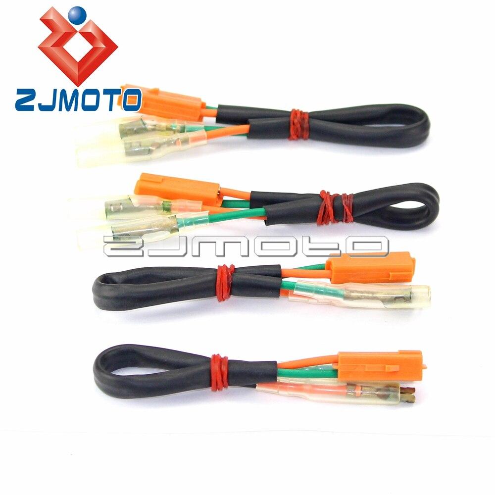 Motorcycle Turn Signal Wiring Harness Connectors Plugs For Kawasaki Z125  Z250 Z300 Z650 Z900 Ninja 250R