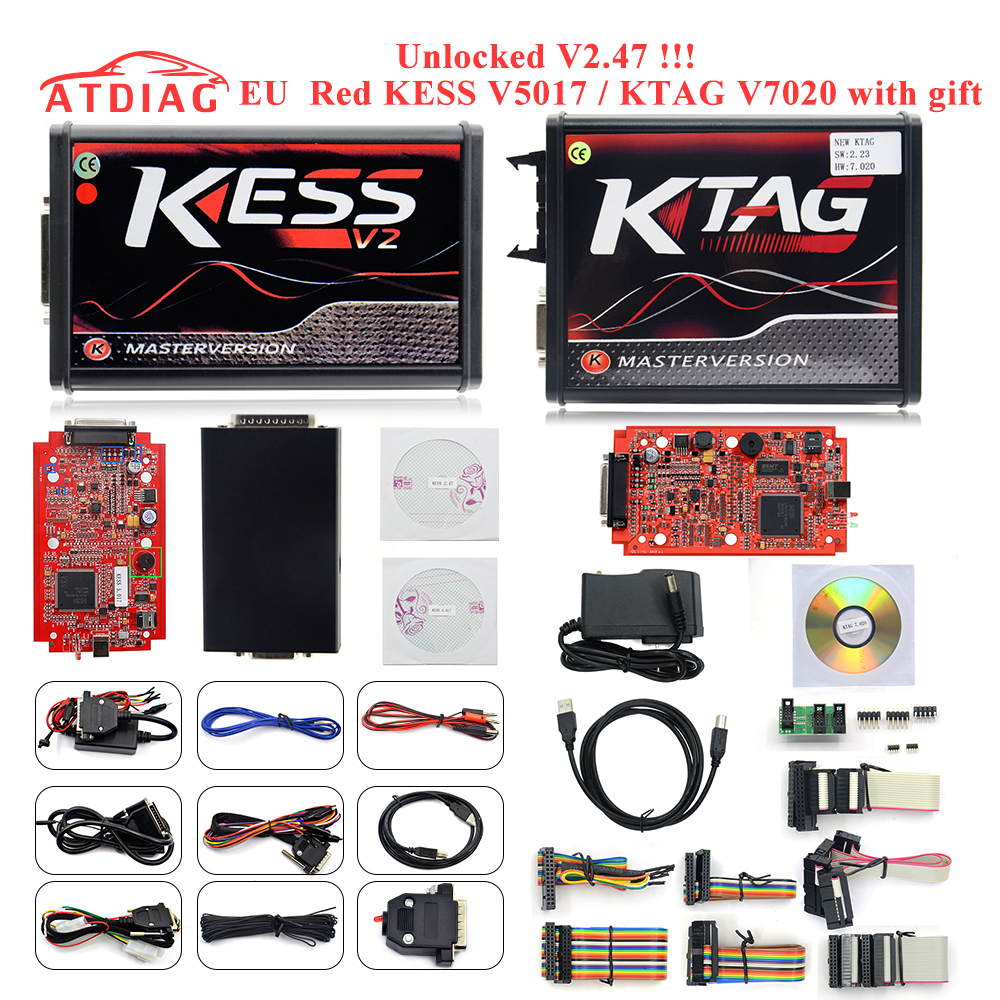 2019 KESSV2 KESS V2 V2.47 V5.017 EUVersion with ECM Titanium Winols KTAG V7.020  v2.25 LED Online Master Version ECU Programmer(China)