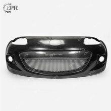 FRP Bumper For Mazda MX5 Roaster Miata NC3 OEM Glass Fiber Front Sets With Carbon Grille&Fog Light Cover