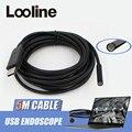 6 LEDs de 7mm Endoscopio USB Cámara IP67 Tubo Impermeable de la Serpiente Alcantarillado Cámara de Inspección boroscopio Coche Con 5 M de Cable Para PC ventanas