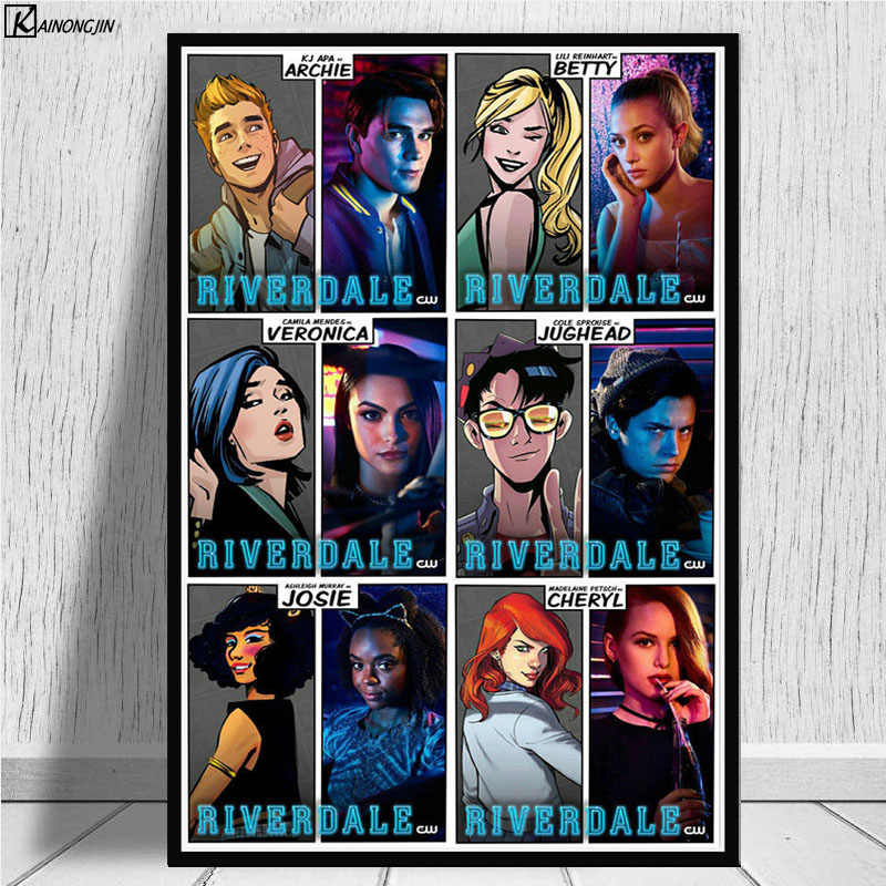 Riverdale Posters and Prints Season 3 Hot TV Series Show Poster Canvas Painting Wall Art Picture for Living Room Home Decoration