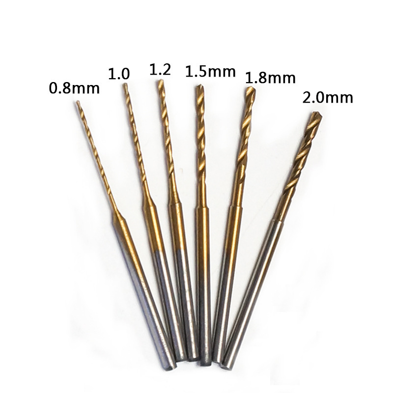 0.8mm/1.0mm/1.2mm/1.5mm/1.8mm/2.0mm Extended High Speed Steel Twist Drill Amber Beeswax Reaming Drill 2.35mm Rod Home DIY Drills