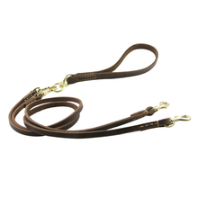 New Dog Leash Genuine Leather Durable Rope Double Head Leashes Detachable for Small Medium Training Supplies
