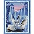 Любовь Лебедь узор Счетный крест Diy 11CT 14CT Набор для вышивки крестом оптовая продажа вышивка рукоделие - фото