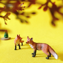 1Pcs/fox/animals miniatures/lovely cute/fairy garden gnome/moss terrarium decor/crafts/figurine/statue/diy supplies