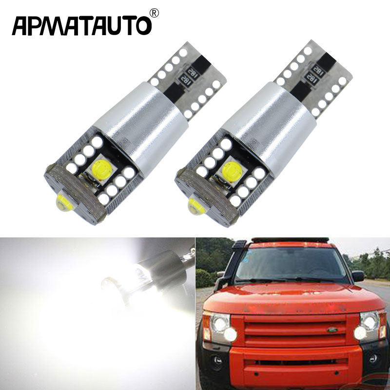 2x CANbus T10 W5W 194 LED Clearance Light Marker Lamp Bulb For Land Rover v8 discovery 4 2 3 x8 freelander 2 defender A8 a9