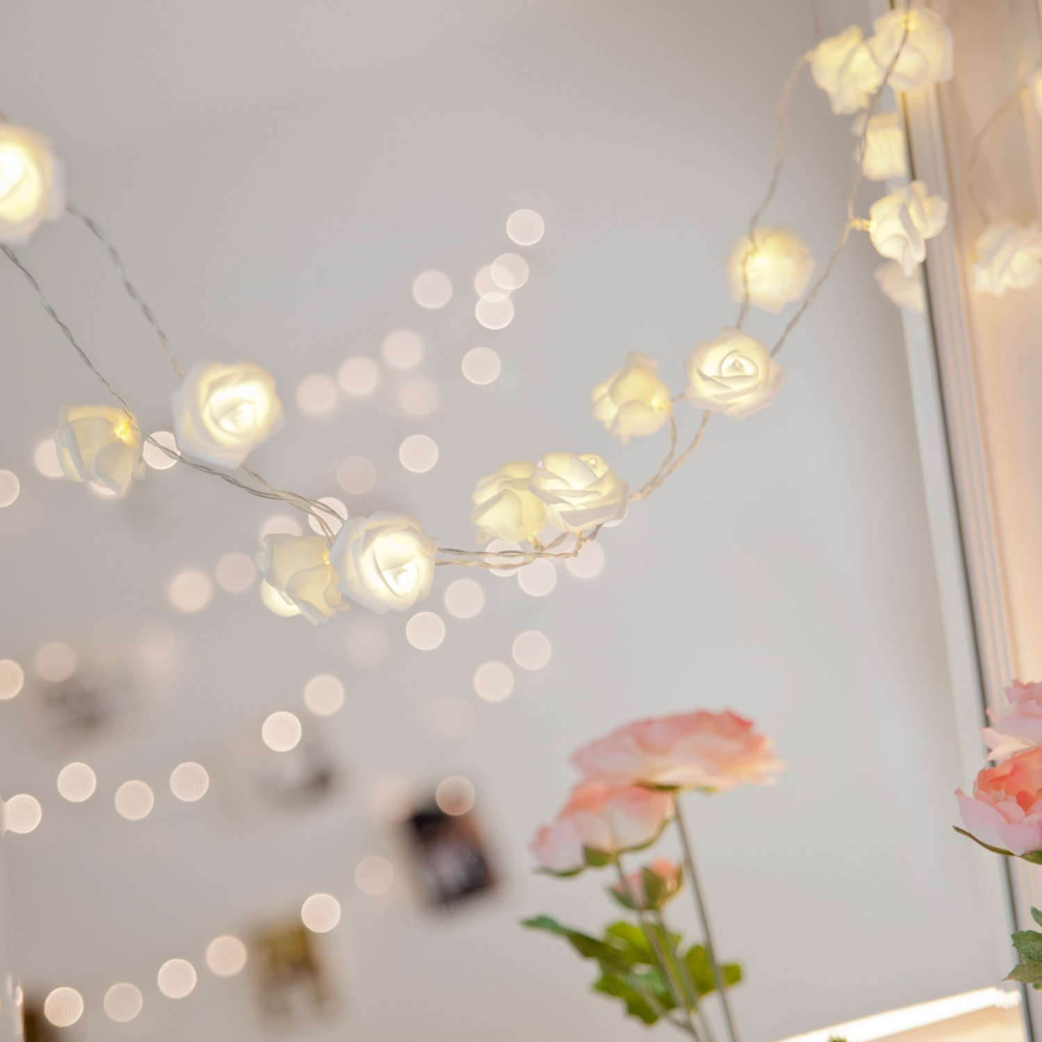 2m 20 led rose flower fairy string lights holiday lighting novelty 2m 20 led rose flower fairy string lights holiday lighting novelty romantic wedding party christmas decoration roses lights in lighting strings from lights mightylinksfo