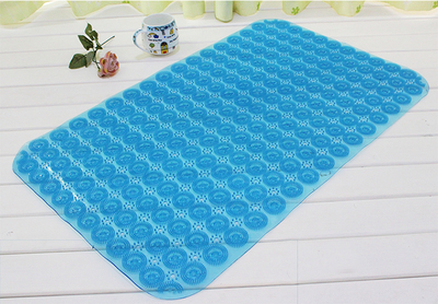 Bathroom Transparent Mat Massager Non-slip Trigger Point Shower Feet Sheet Suction Cup Door Foot Pad Shower Tub Bathing Massage