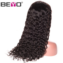 Brazilian Water Wave Wig Lace Front Human Hair Wigs For Black Women 130/150/180 Density Remy Preplucked Lace Wig 10-26 Inch Beyo(China)