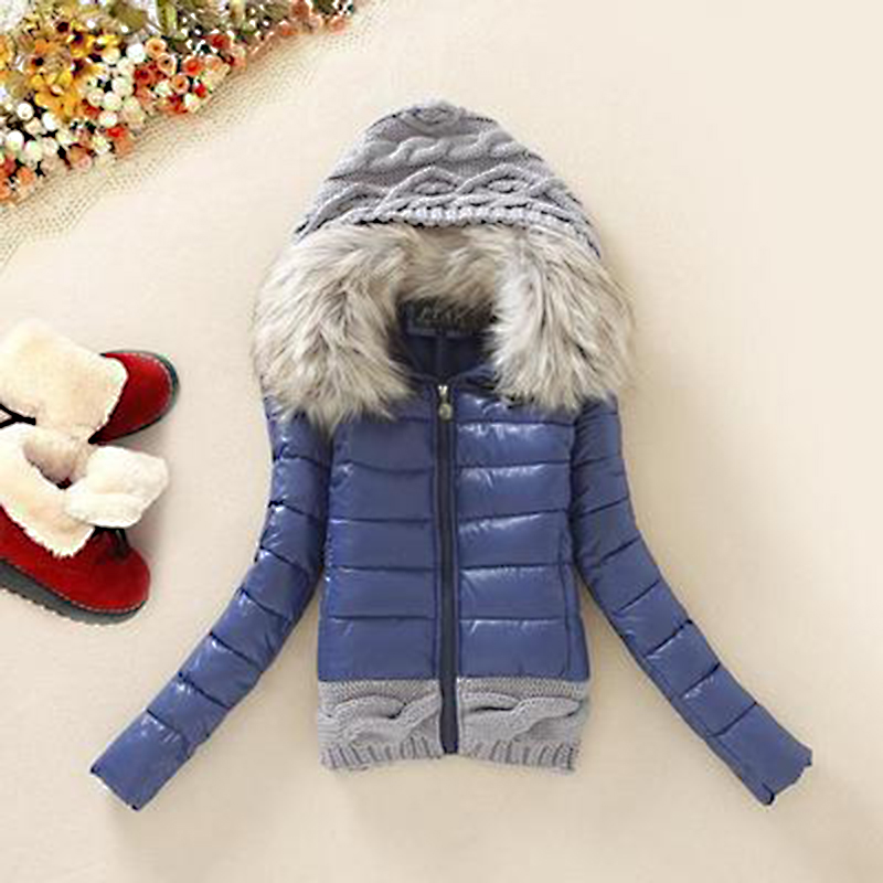Slim Autumn Winter Women   Basic     Jackets   Candy Color Female Short Coats Warm Knitting Wool Cap Stitching Sweaters Outwear MJT354