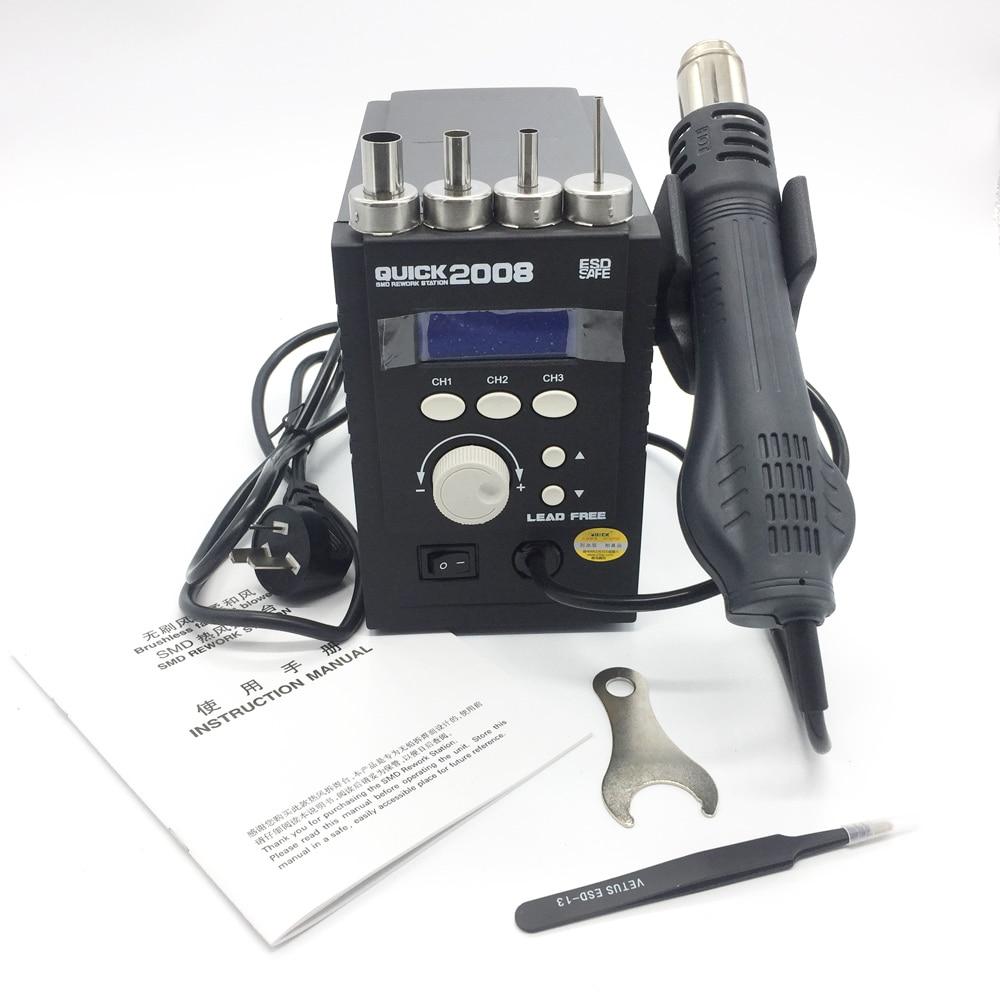 Nová Arrvial 17 v 1 Původní QUICK 2008 ESD digitální displej tepelná pistole Svařovací pistole 220V 120L / min 100 až 500 stupňů