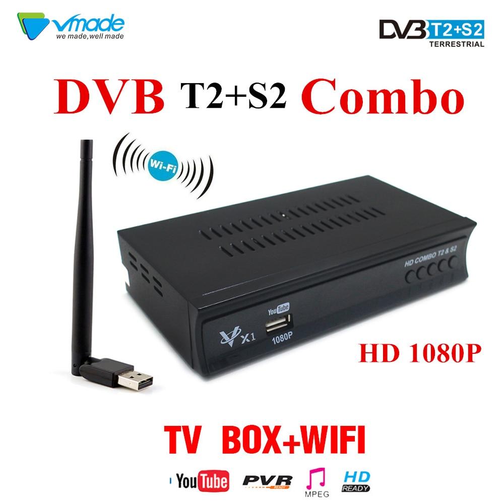 Digital Terrestrial Satellite TV Receiver Support AC3 powervu Biss key  CCcam IPTV DVB-T2 DVB-S2 V7S Satellite Receiver receptor