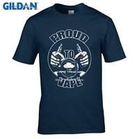 GILDAN fashion brand t shirtProud Vape smoke smoke hookah vaping vaporizer T-shirt