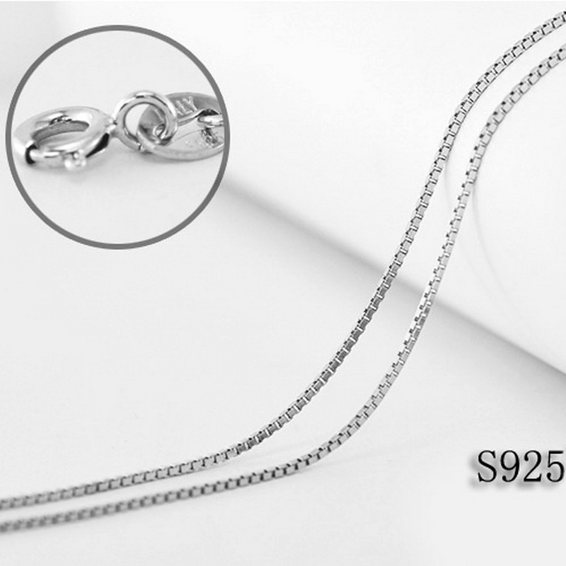 """Charm Sterling Silver Wrench Pendant 18/"""" Italian Box Chain"""