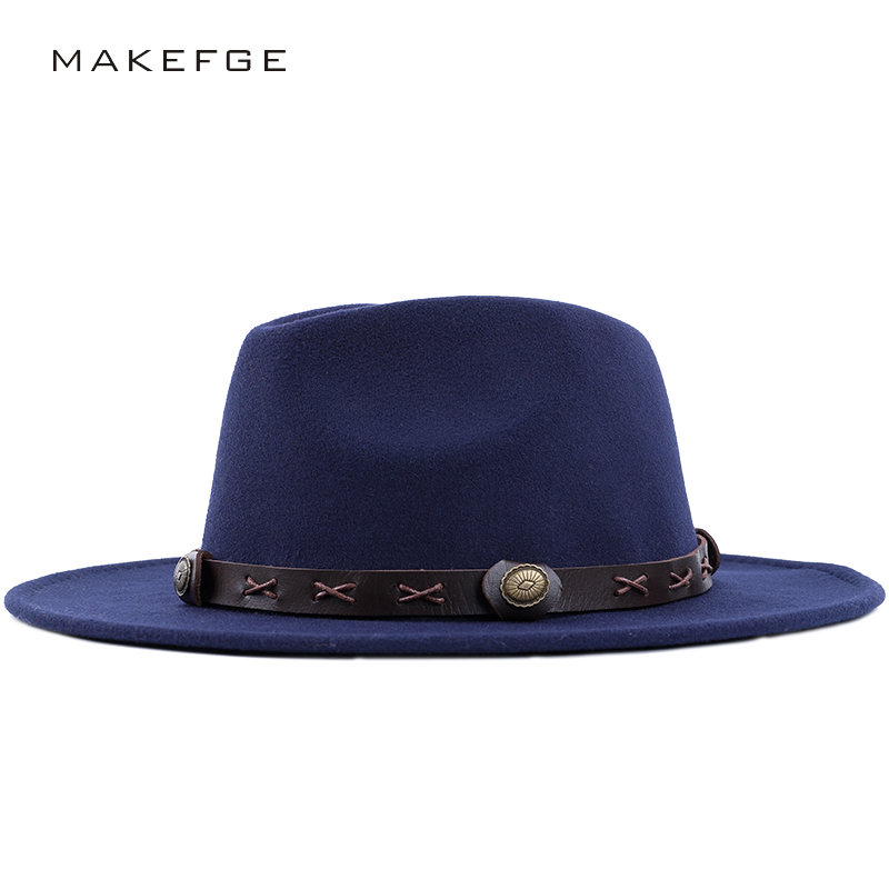 5eee2ecdc3a Classic fedora autumn and winter warm and comfortable adjustable top hats  men s and women s universal retro