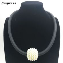 Empress Female exaggerated necklace pearl pendant, can DIY customized soft foam aluminum.Necklace XL008