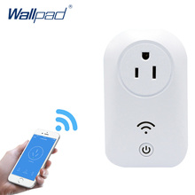 2018 Лидер продаж Wi-Fi гнездо 16a + таймер нам wifi разъем выход Умный дом удаленного Беспроводной управления для IPhone IPad Android IOS