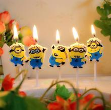 Minions Style Candles