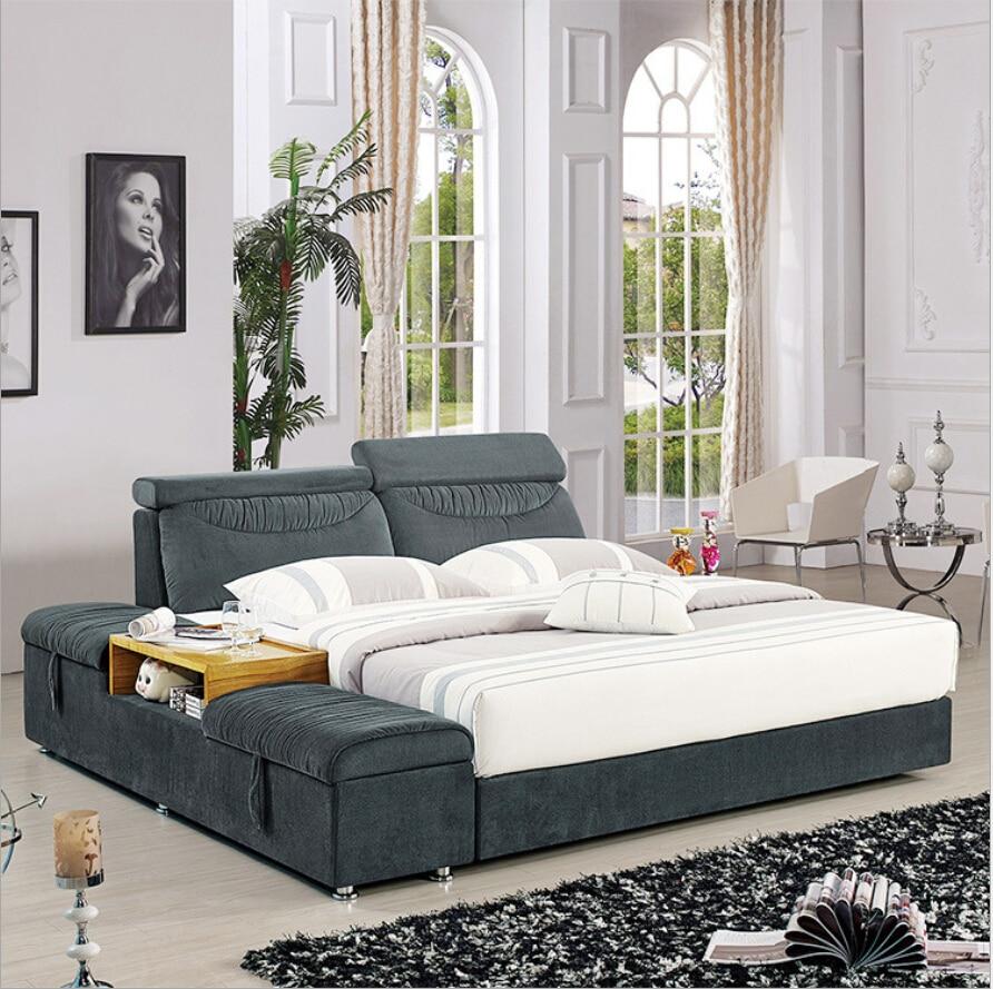 webetop minilist suave cama moderno muebles para el hogar juego de cama y mesa de noche de madera cama doble juego de cama de te