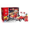 Пожарная служба Серия Воды пожарный Автомобиль Чрезвычайной Пожарной Fireboat Образования Детей Собраны Игрушки Строительные Блоки Кирпич