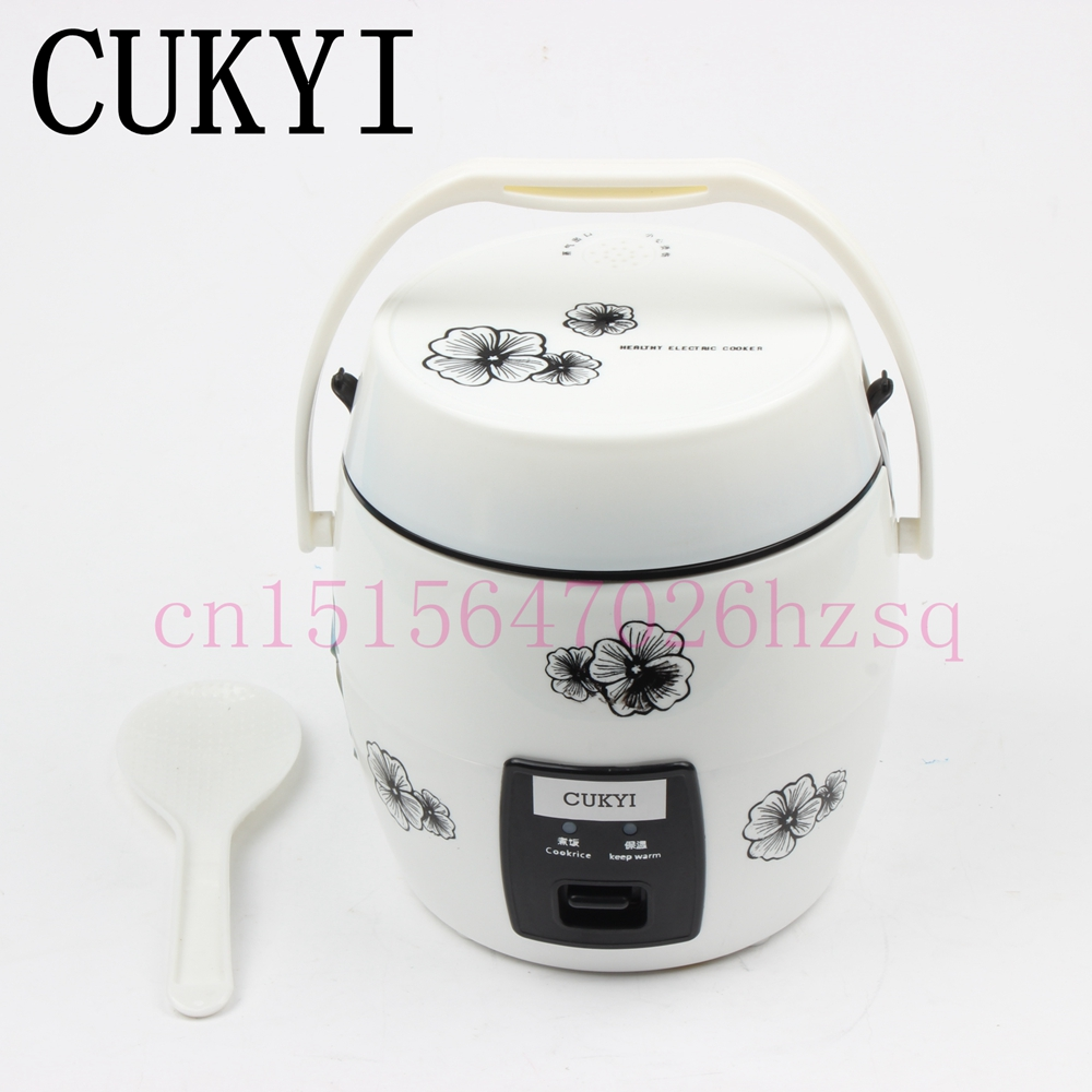 CUKYI 1.2L Portable electric cooker rice  mini rice cooker house or car enough for 1-2 persons parts for electric rice cooker