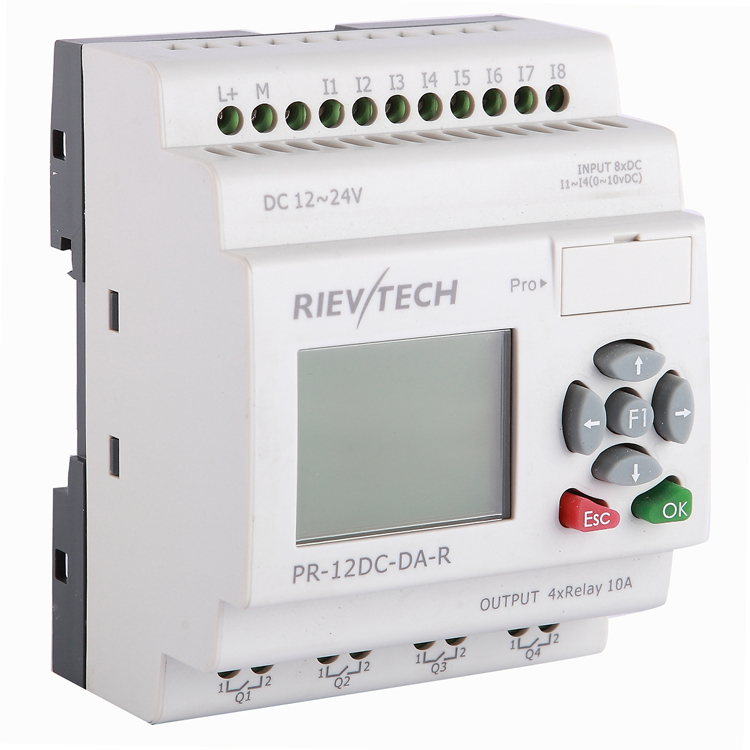 RIEVTECH,Micro Automation Sulutions Provider. Industrial Programmable Relay PR-12DC-DA-R