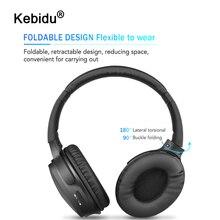 Kebidu بلوتوث سماعة رأس ستيريو سماعات لاسلكية بلوتوث 5.0 سماعة سماعة رأس بمايكروفون للهواتف