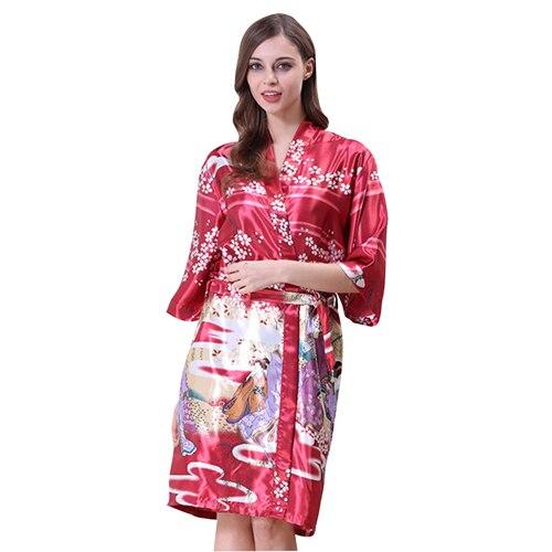 Kobiety w ciąży koszule nocne pół rękawa chińskie kwiaty