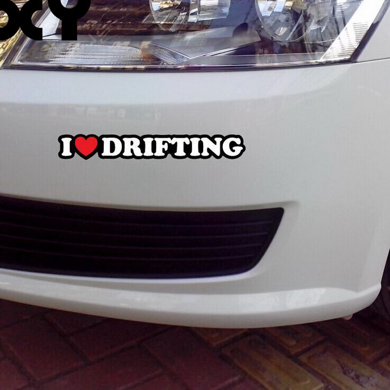 Motorcycle Stickers Decals I Love Drifting Car Accessories Reflective Type Car Stickers Drop Shipping