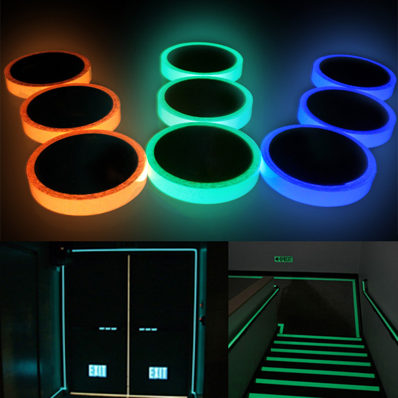 Wall Sticker 1PC High Quality Luminous Tape Self Adhesive Night Vision Fluorescent Glow In Dark Emergency Sticker Warning Tape