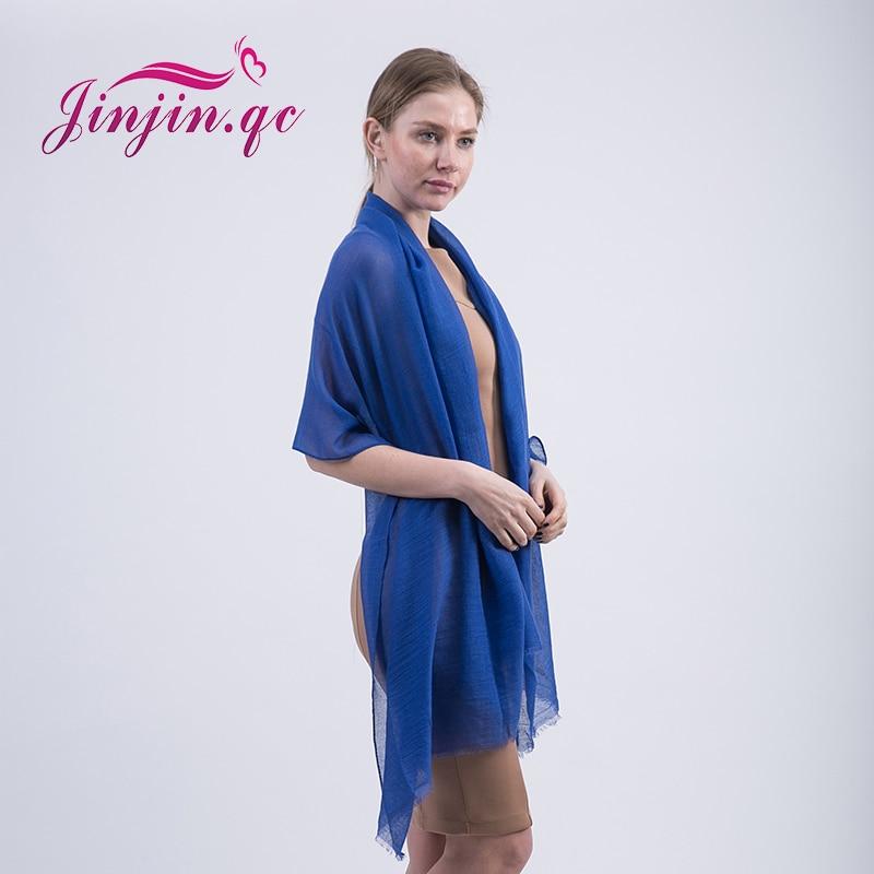 [Jinjin. QC] Женская мода шарф зимние однотонные мужские шарфы и платки Джерси хиджаб echarpes платки бандана 20 видов цветов ...