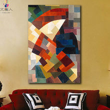 diy paintings coloring pictures by numbers on canvas Kandinsky abstract Red umbrella artwork color block handmade for hoom decor(China)