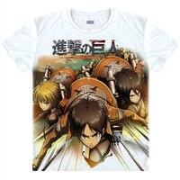 Atak na Titan T-Shirt Koszula Levi Rivaille kolorowe t-shirty Anime Akcesoria niesamowite koszula Druku Damskie T-shirty Cosplay A