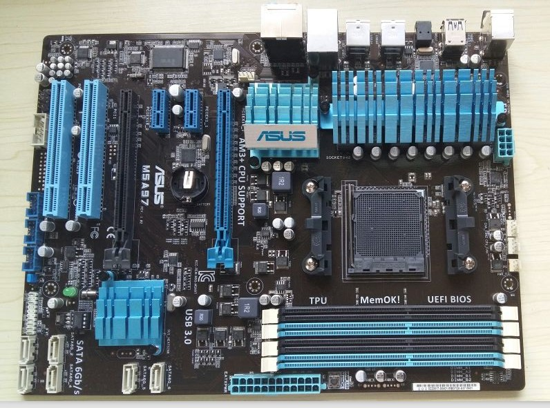 Used original 970 motherboard for Asus M5A97 DDR3 AM3+ AM3 32GB ATX 970 USB 3.0 Desktop motherborad Free shipping