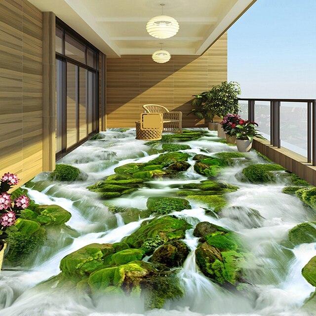 Benutzerdefinierte 3d fototapete wasserfall creek fluss for Markise balkon mit tapeten fliesen küche