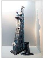 SH678 1209pcs Legoing Marvel Super Heros Upgraded Version Super Hero Attack On Avenger Tower Building Block
