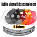 New Universal 3-Snap Motorcycle Bike Bicycle Helmet Bubble Visor Shield Flip Up Open Face Base