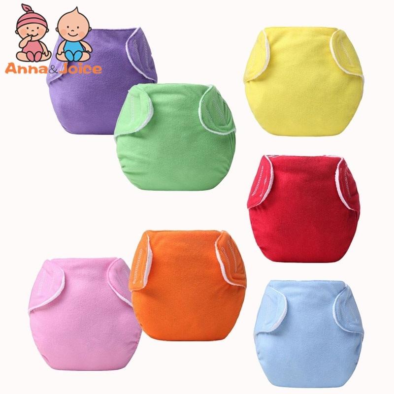 10pcs/lot Candy Color Children Cloth Diaper/Reusable Nappies/Adjustable Diaper Cover/ Winter Design