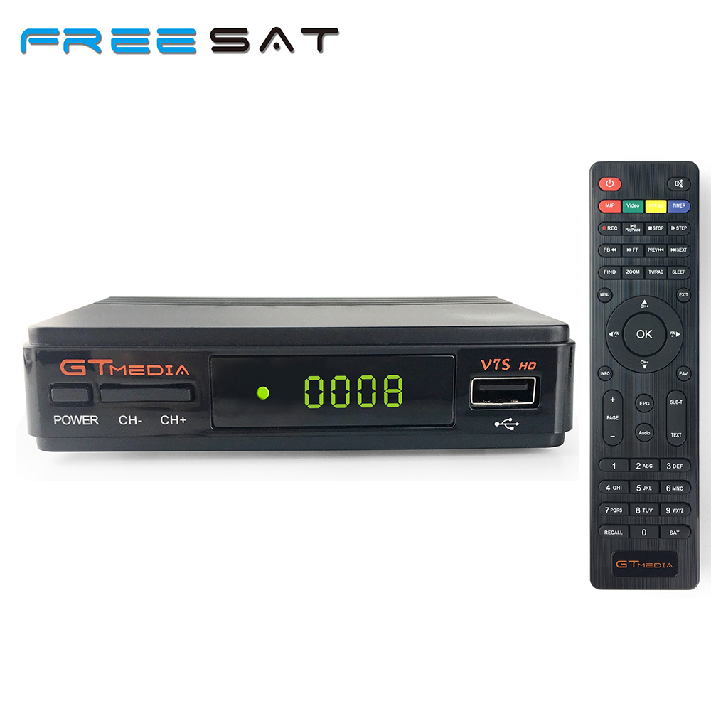 Freesat/gtmedia V7S HD Satellite Receiver Full 1080P DVB-S2 HD Support Ccam powervu youpron set top box VS FREESAT V7 hellobox gsky v7 5pcs hd powervu autoroll iks ccam dvb s2 receiver tv box better than freesat support tandberg patch