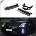 OEM Exact Fit CREE High Power LED Front Bumper Reflector Replacement LED Daytime Running Lights For 2006-2009 Nissan 350Z LCI